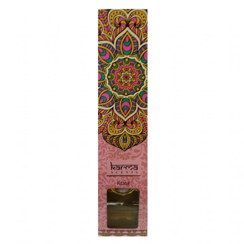 Rose - Fragranced Reed Diffuser 80ml - Karma Scents Home Fragrances